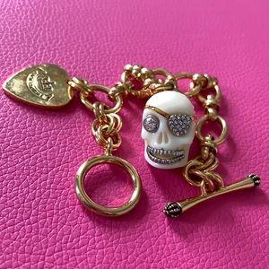 Juicy Couture Skull Charm Bracelet
